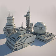 Futuristic Buildings XXI 3d model