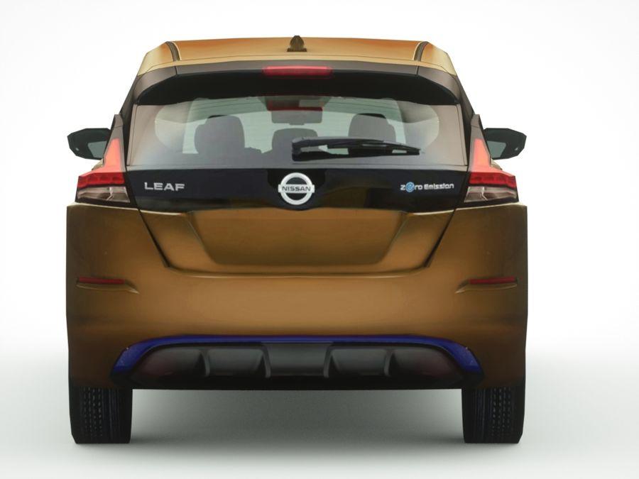 Colección Nissan LEAF 2018 royalty-free modelo 3d - Preview no. 7