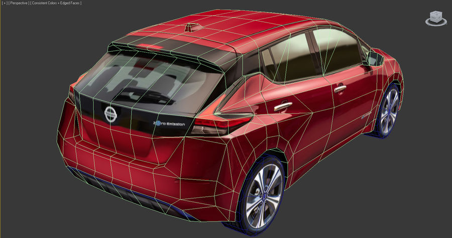 Colección Nissan LEAF 2018 royalty-free modelo 3d - Preview no. 10