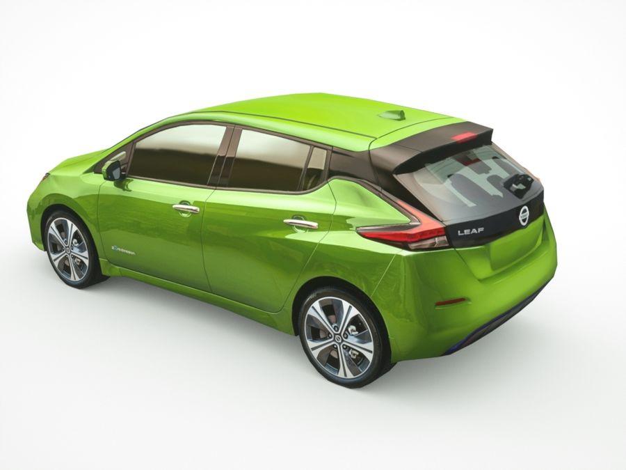 Colección Nissan LEAF 2018 royalty-free modelo 3d - Preview no. 4