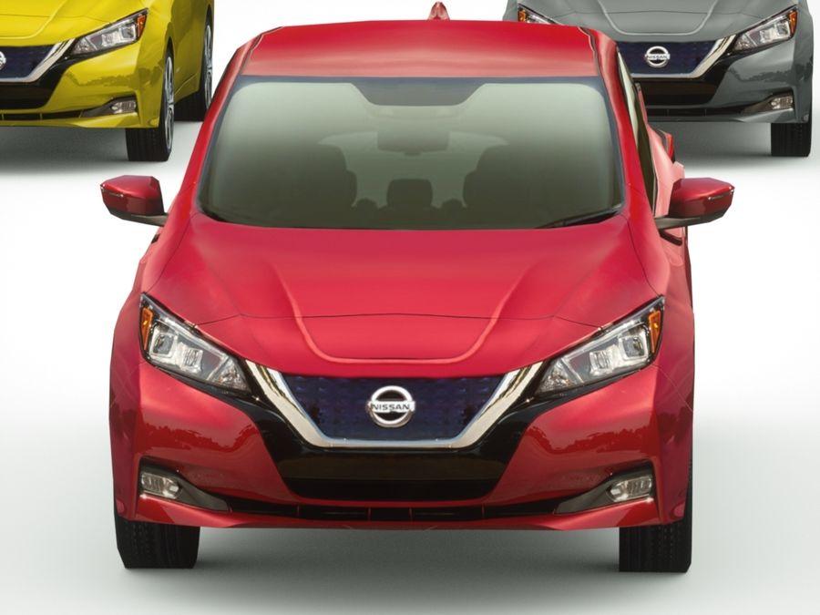 Colección Nissan LEAF 2018 royalty-free modelo 3d - Preview no. 8