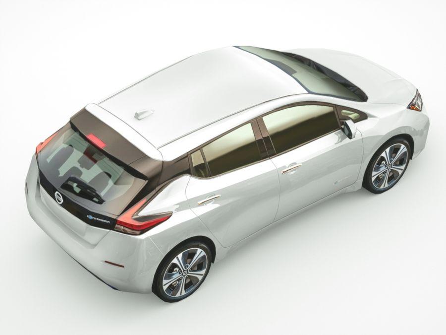 Colección Nissan LEAF 2018 royalty-free modelo 3d - Preview no. 6