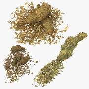 Marijuana Piles Collection 3d model