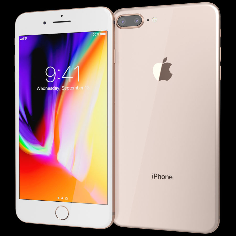 Apple iPhone 8&iPhone 8 Plus&iPhone Xコレクション royalty-free 3d model - Preview no. 77