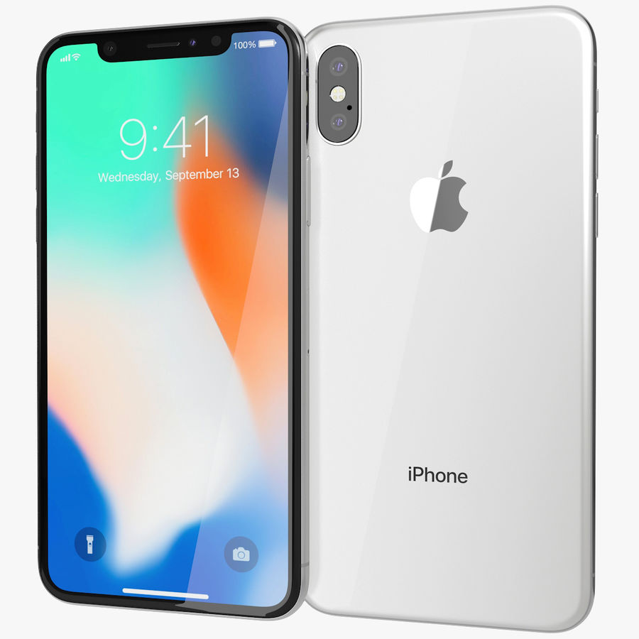 Apple iPhone 8&iPhone 8 Plus&iPhone Xコレクション royalty-free 3d model - Preview no. 134
