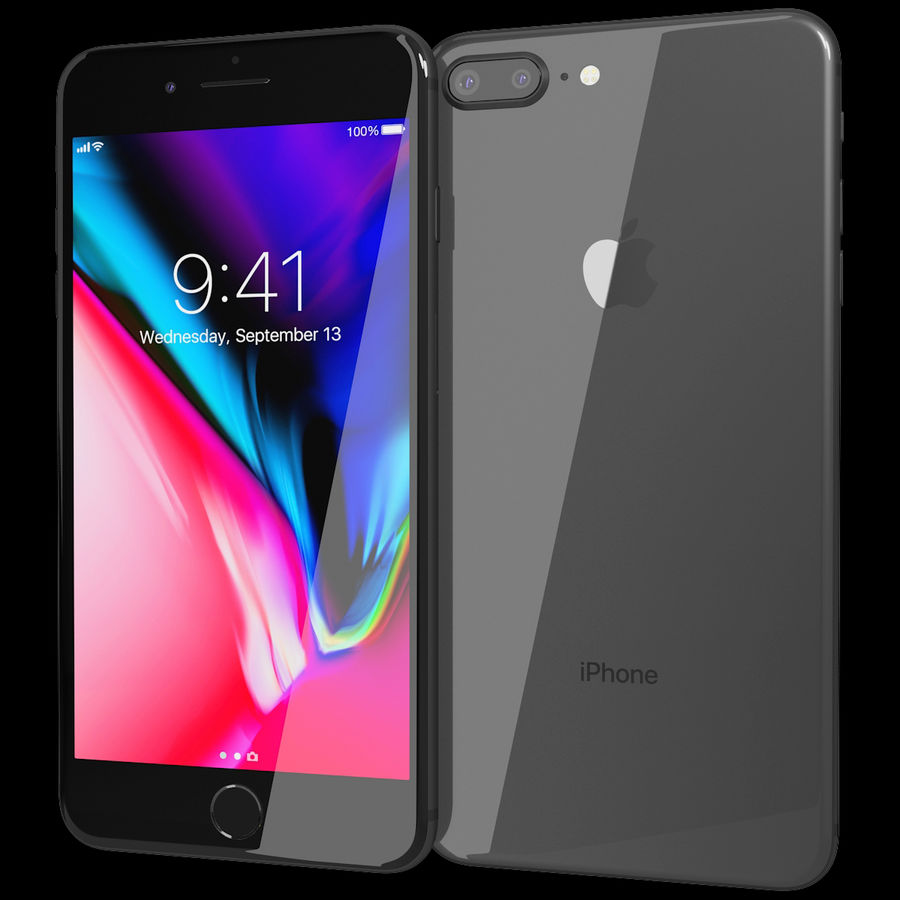 Apple iPhone 8&iPhone 8 Plus&iPhone Xコレクション royalty-free 3d model - Preview no. 61