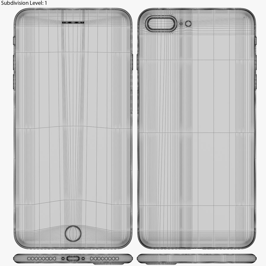 Apple iPhone 8&iPhone 8 Plus&iPhone Xコレクション royalty-free 3d model - Preview no. 109