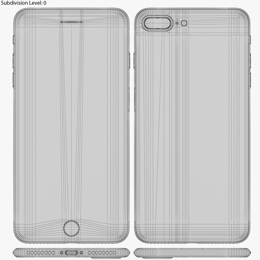 Apple iPhone 8&iPhone 8 Plus&iPhone Xコレクション royalty-free 3d model - Preview no. 108