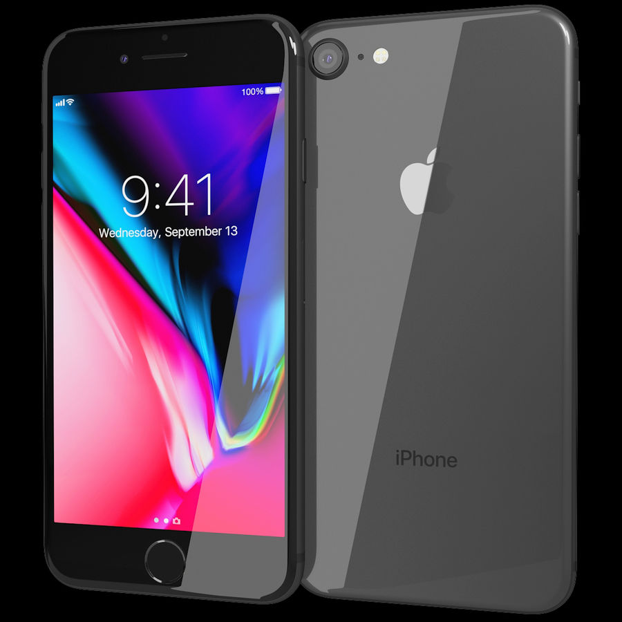 Apple iPhone 8&iPhone 8 Plus&iPhone Xコレクション royalty-free 3d model - Preview no. 3