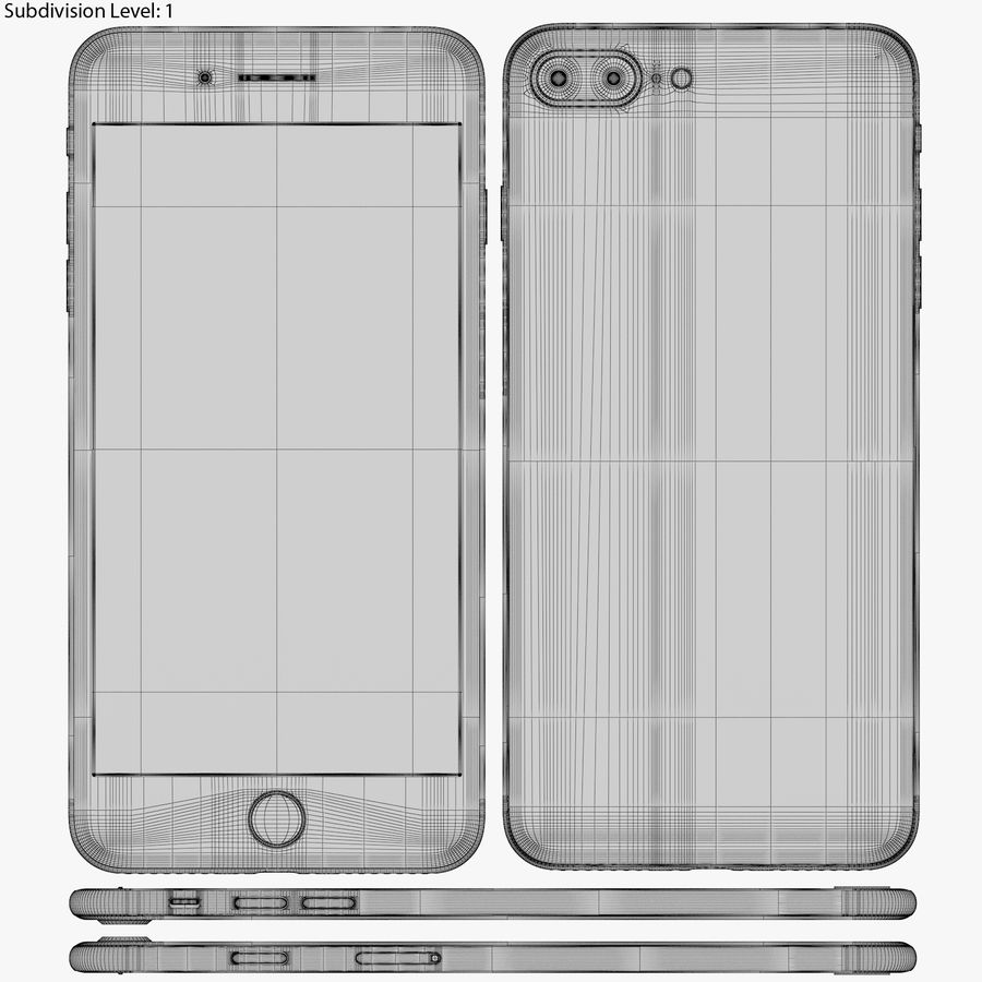 Apple iPhone 8&iPhone 8 Plus&iPhone Xコレクション royalty-free 3d model - Preview no. 111