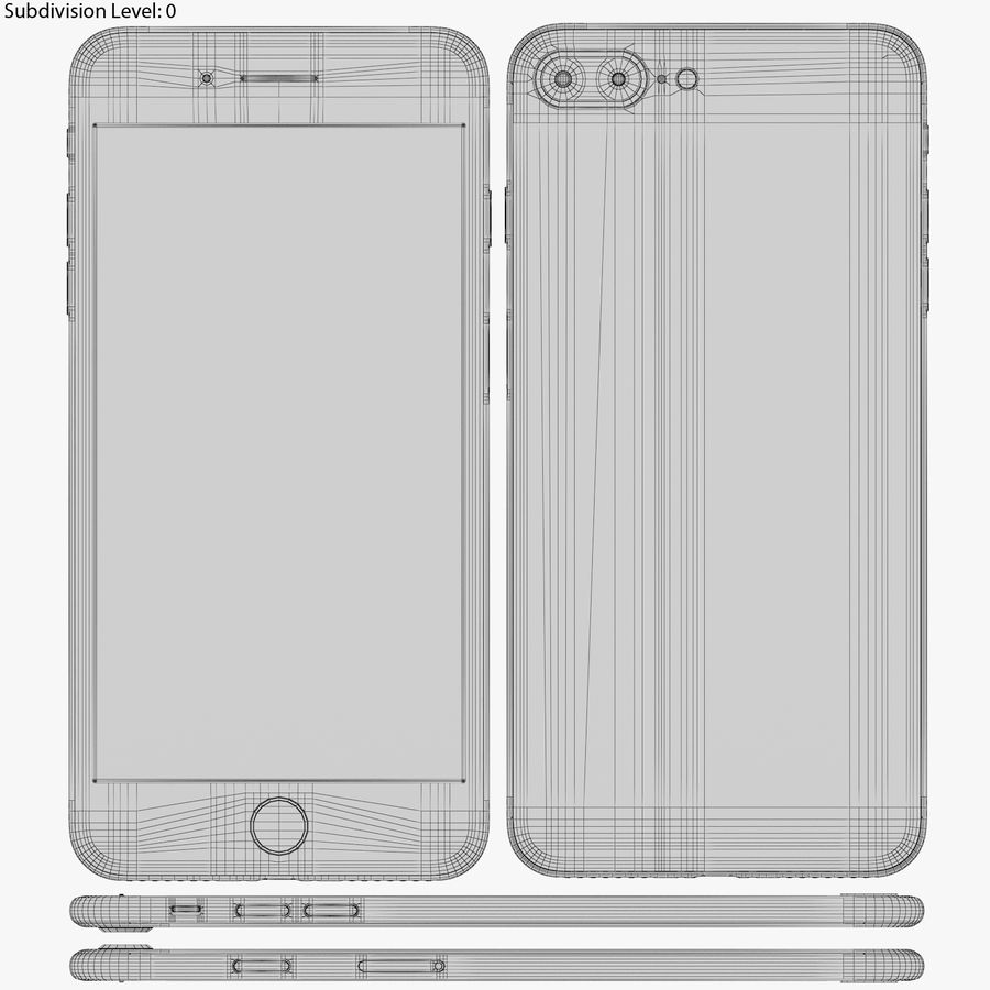 Apple iPhone 8&iPhone 8 Plus&iPhone Xコレクション royalty-free 3d model - Preview no. 110