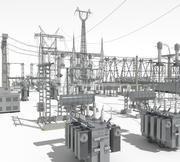 Elektrisk transformatorstation 3d model
