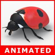 Nyckelpiga (animerad) 3d model