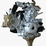 Ducati Superquadro Engine 3d model