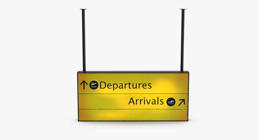 Signes de départ et d'arrivée royalty-free 3d model - Preview no. 18