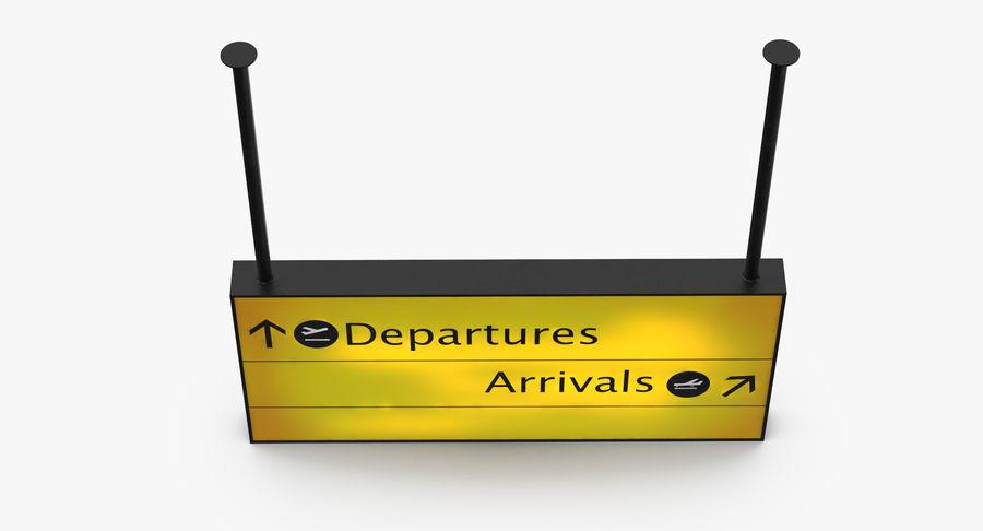 Signes de départ et d'arrivée royalty-free 3d model - Preview no. 20
