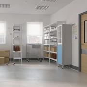 Arquivo do quarto de hospital 3d model