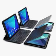 Samsung Galaxy Tab S3 9,7 + SPen + клавиатура + крышка все цвета (Rigged) 3d model