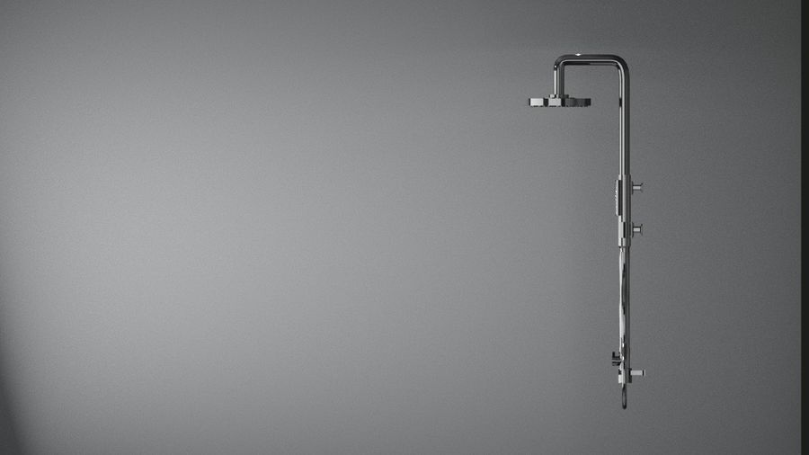 Dusche royalty-free 3d model - Preview no. 4