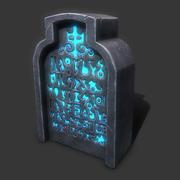 надгробный камень 3d model