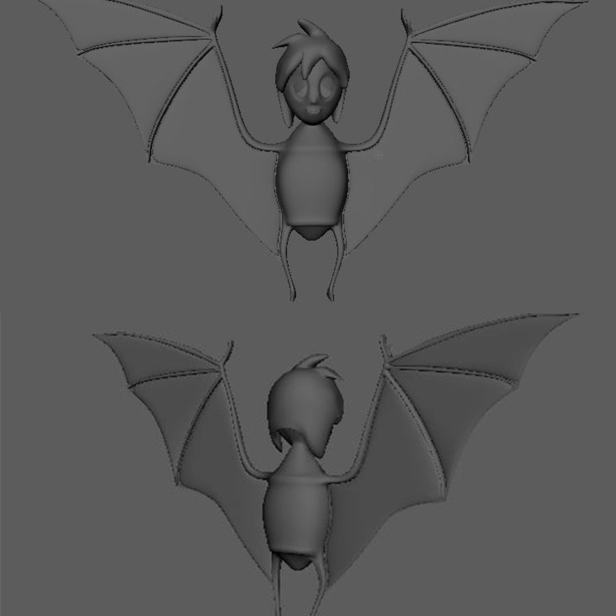 bat royalty-free 3d model - Preview no. 1