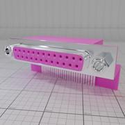 Port drukarki (płyta główna) 3d model