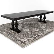 陶器谷仓洛林餐桌/诺兰·波斯风格的地毯 3d model