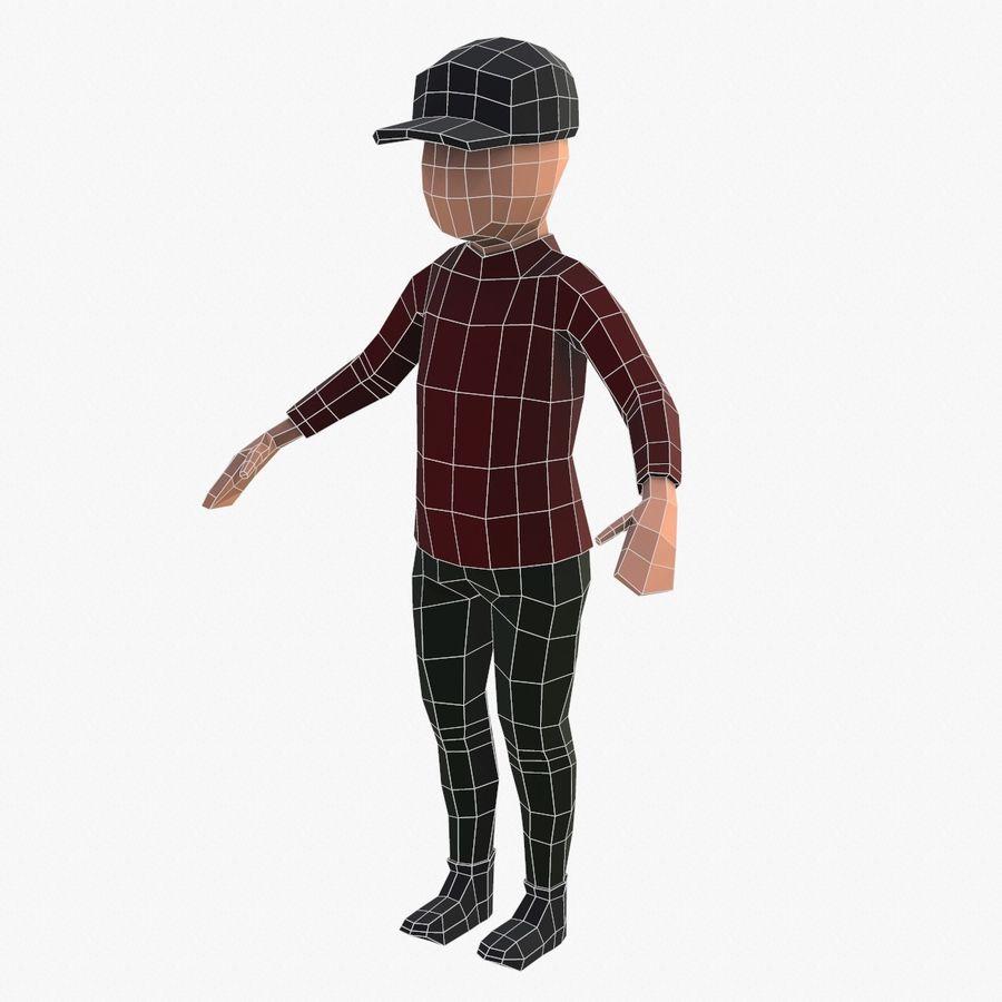 Низкополигональный персонаж royalty-free 3d model - Preview no. 10