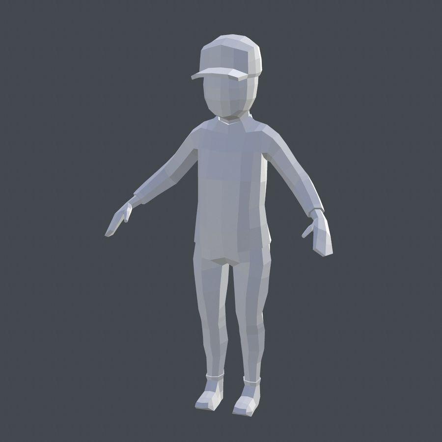 Низкополигональный персонаж royalty-free 3d model - Preview no. 5