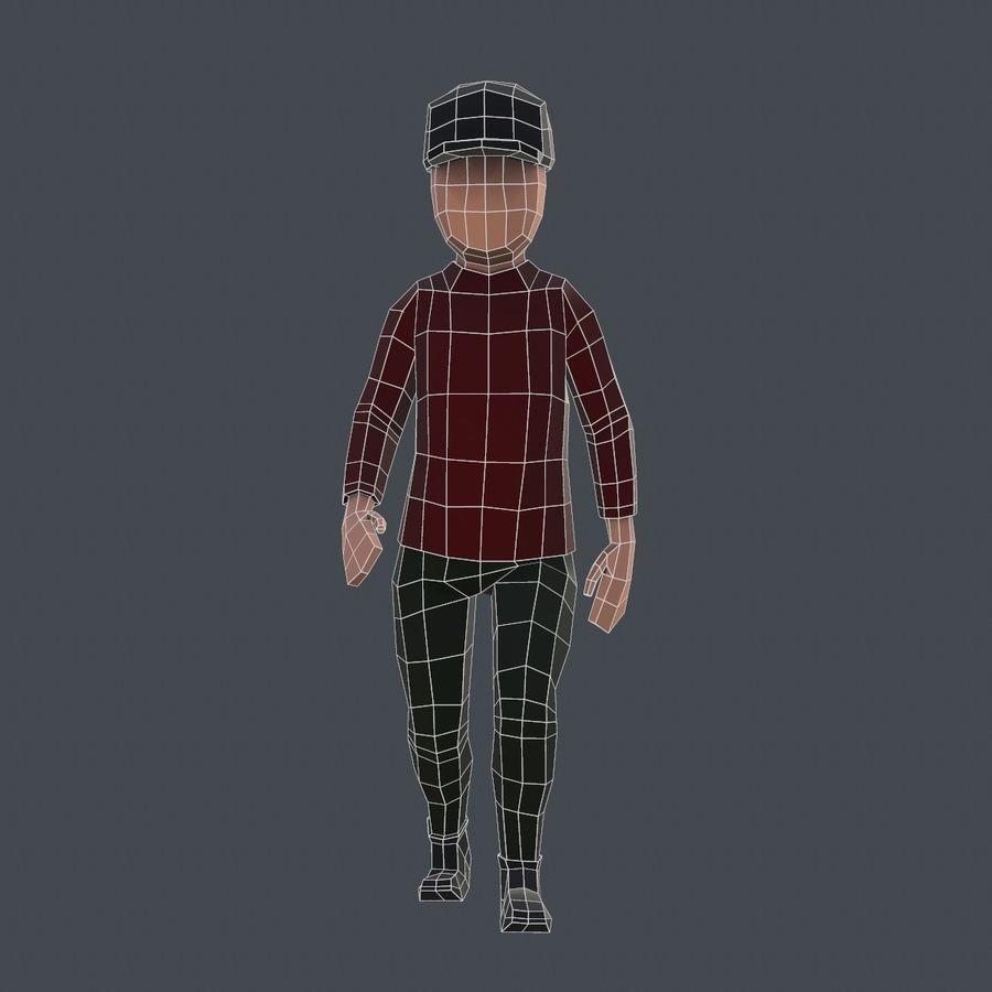 Низкополигональный персонаж royalty-free 3d model - Preview no. 6