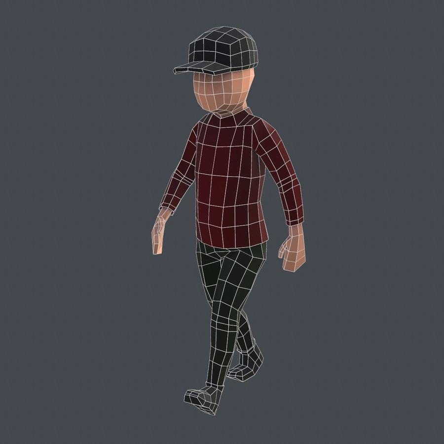Низкополигональный персонаж royalty-free 3d model - Preview no. 8