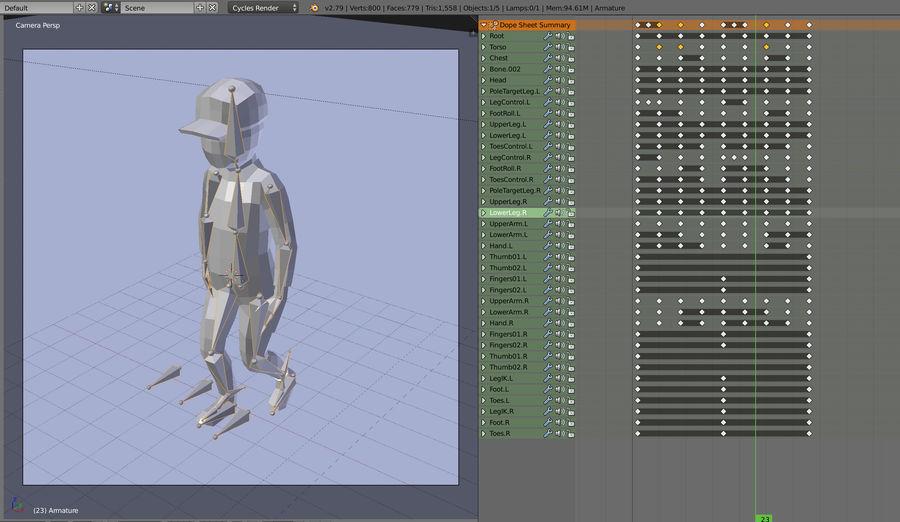Низкополигональный персонаж royalty-free 3d model - Preview no. 11