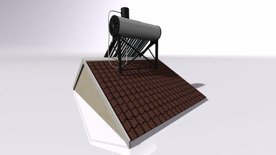 Chauffe-eau solaire royalty-free 3d model - Preview no. 2