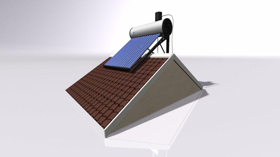 Chauffe-eau solaire royalty-free 3d model - Preview no. 1