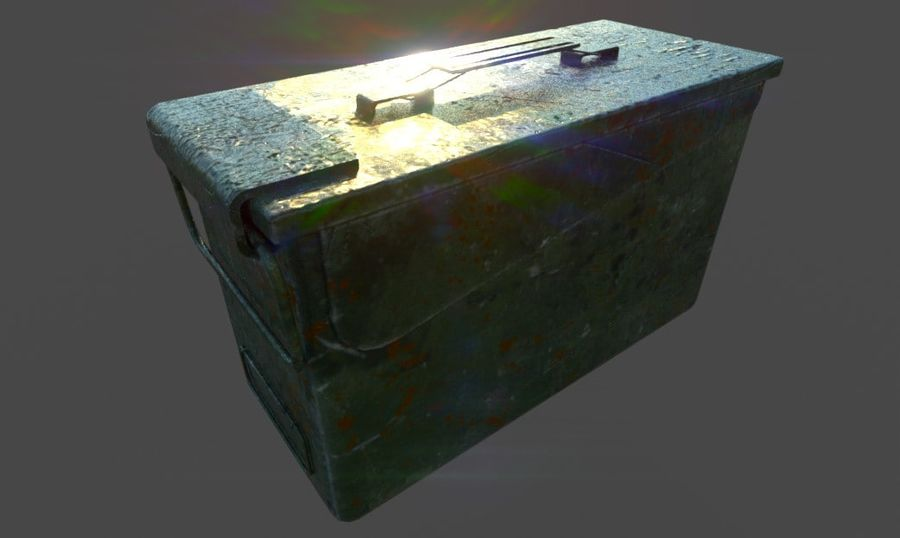 Ammo Box royalty-free 3d model - Preview no. 5