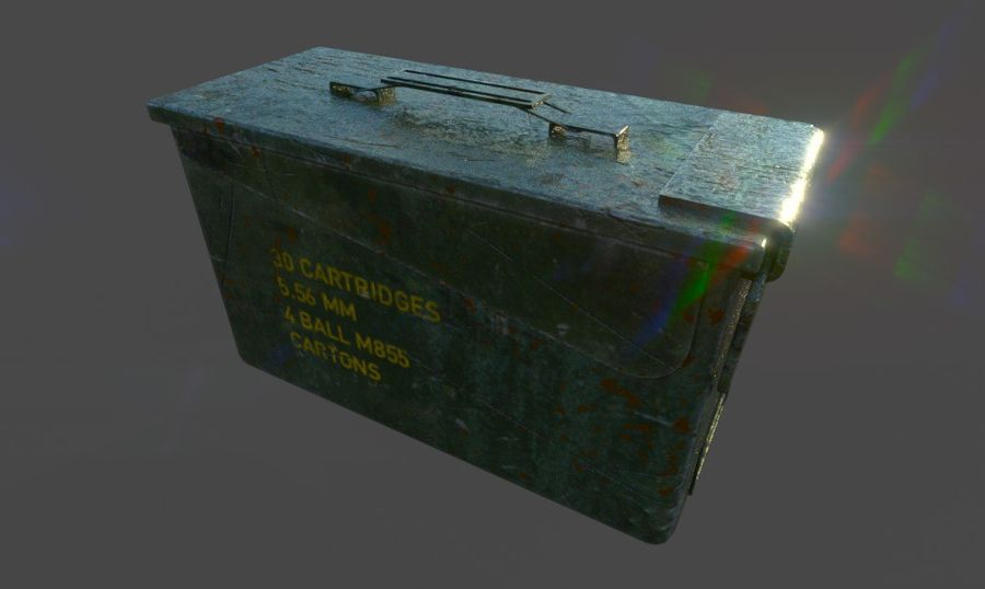 Ammo Box royalty-free 3d model - Preview no. 1