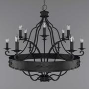 wrought iron chandelier 3d model