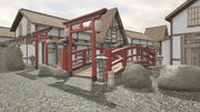 Japanse architectuur 3d model