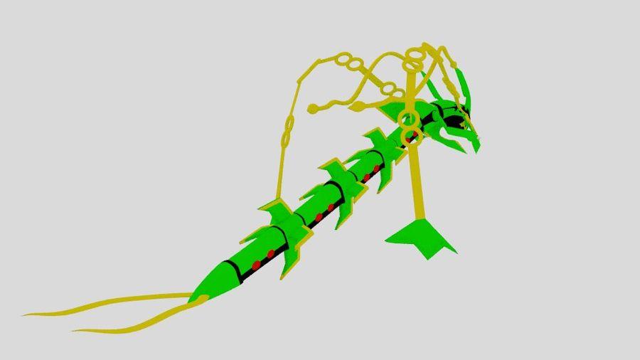 Mega Rayquaza royalty-free 3d model - Preview no. 5