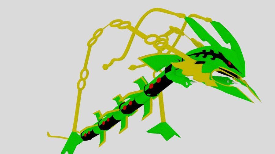 Mega Rayquaza royalty-free 3d model - Preview no. 1