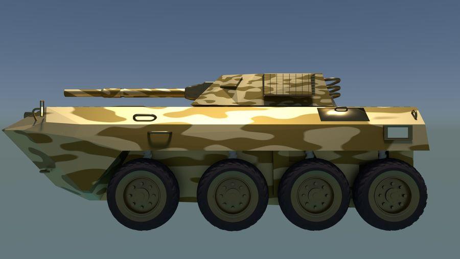 Golden AMV (Armored Mortar Vehicle) Desert-versie royalty-free 3d model - Preview no. 5