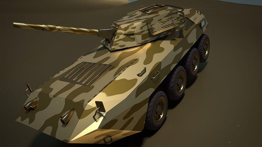 Golden AMV (Armored Mortar Vehicle) Desert-versie royalty-free 3d model - Preview no. 3