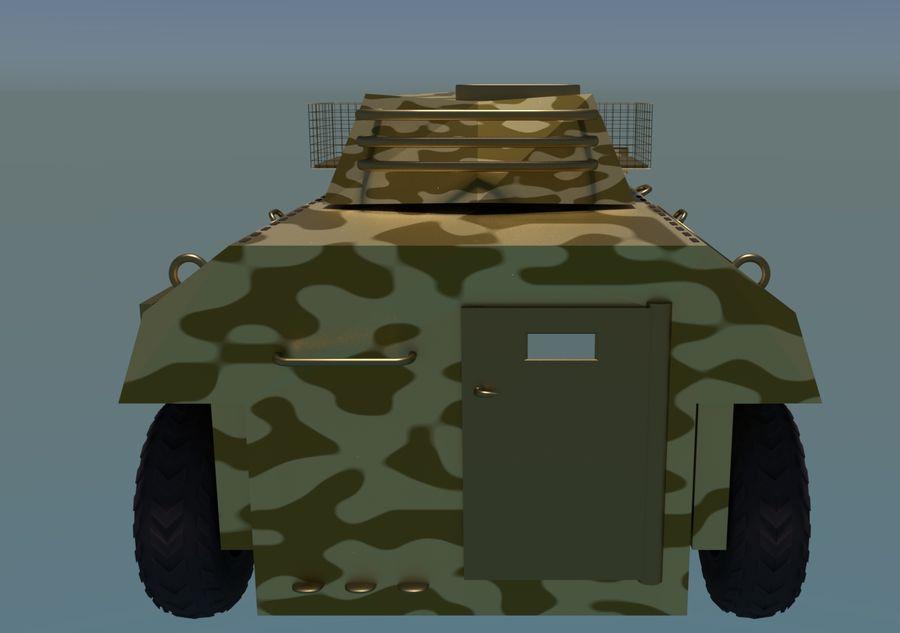 Golden AMV (Armored Mortar Vehicle) Desert-versie royalty-free 3d model - Preview no. 7
