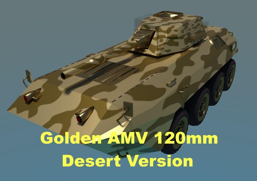 Golden AMV (Armored Mortar Vehicle) Desert-versie royalty-free 3d model - Preview no. 1