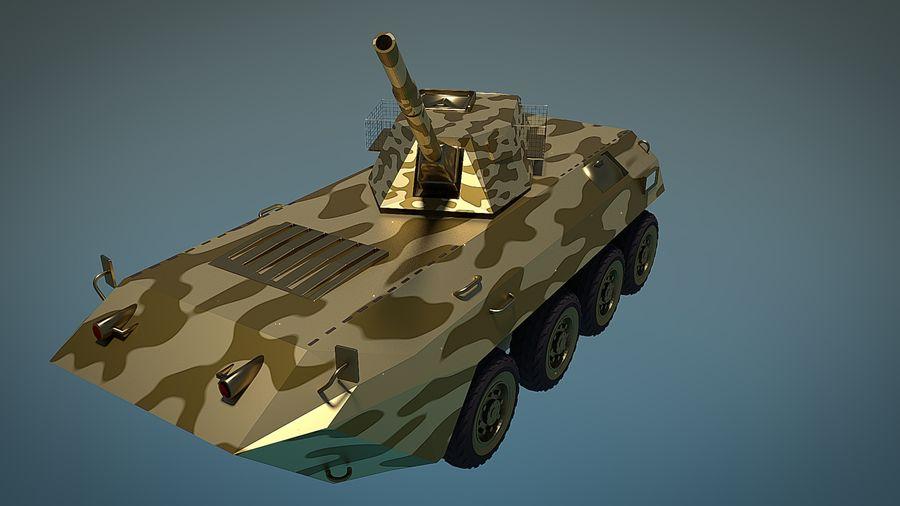 Golden AMV (Armored Mortar Vehicle) Desert-versie royalty-free 3d model - Preview no. 2