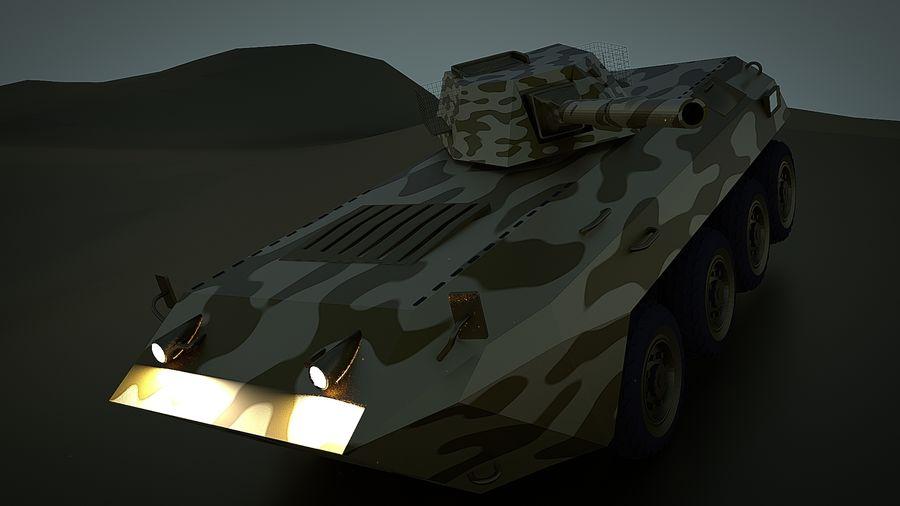 Golden AMV (Armored Mortar Vehicle) Desert-versie royalty-free 3d model - Preview no. 4