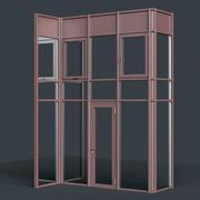 Curtain Wall Facade System 3d model