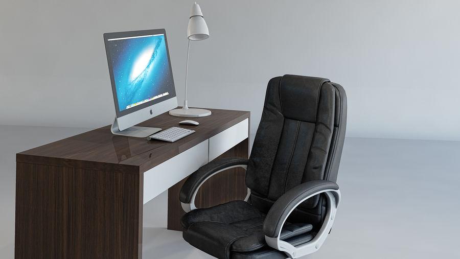 Biurko i krzesło royalty-free 3d model - Preview no. 4