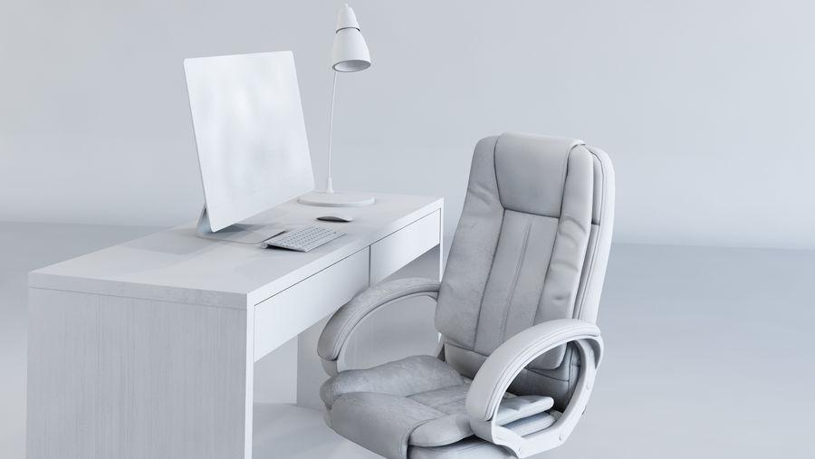 Biurko i krzesło royalty-free 3d model - Preview no. 5