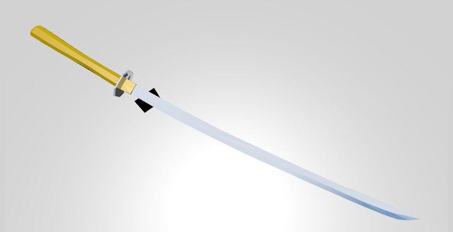 Katana royalty-free 3d model - Preview no. 1